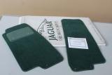 2x Original Jaguar XK8 Fussmatten VORNE GRÜN TEAL SET Carpet JLM20115HDX