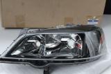 Opel Astra G Scheinwerfer DUNKEL VORNE LINKS LH Black Headlamp 93175725
